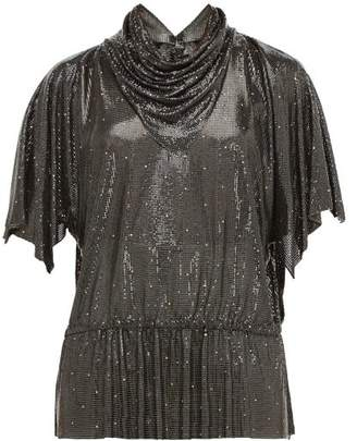 Gianni Versace William Vintage 1983 Oroton Chainmail Top - Womens - Black