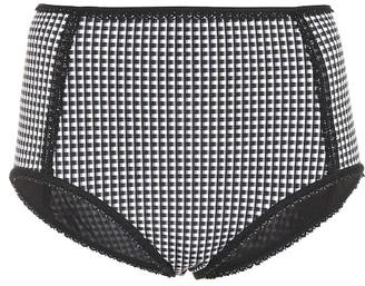 Jonathan Simkhai Checked bikini bottoms