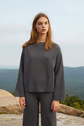 Mansur Gavriel Wool Milano Long Sleeve Sweater - Grey