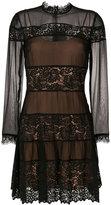 Twin-Set panelled lace dress