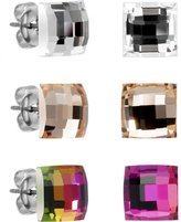 Body Candy 8mm Square Stud Earrings Set