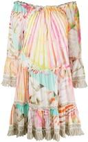 Blumarine Multi-Print Flared Dress