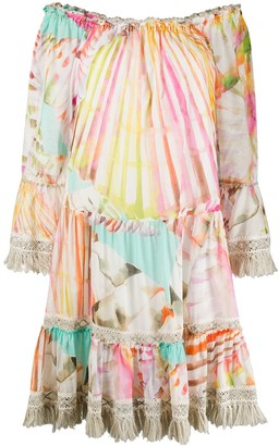 Blumarine Multi-Print Flared Dress