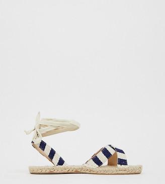 Asos Design DESIGN Wide Fit Jala espadrille flat sandals