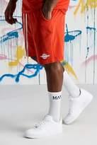 BoohooMAN Big & Tall Quavo Velour Short With Print