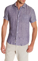Ganesh Short Sleeve Linen Dress Slim Fit Shirt