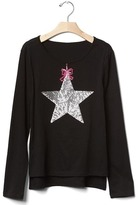 Gap Embellished graphic hi-lo tee