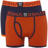 Crosshatch Men's 2 Pack Glowchex Boxer Shorts - Red Orange