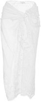 Miguelina White Cotton Layna Scallop Lace Sarong