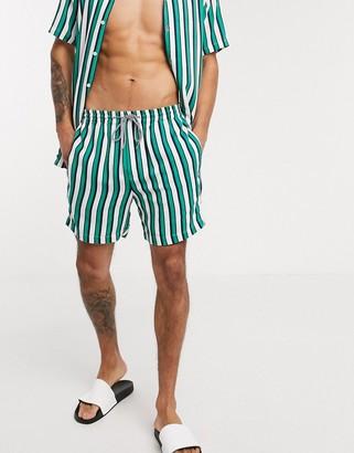 Threadbare stripe co-ord revere shorts