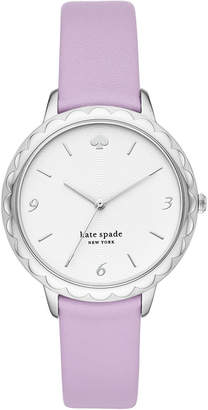 Kate Spade Women Morningside Lilac Leather Strap Watch 34mm