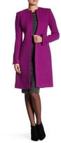 Oscar de la Renta Long Sleeve Jewel Neck Coat