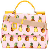 Dolce & Gabbana pineapple print bag - women - Cotton/Leather - One Size