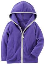 Carter's Girls' Zip Up Fleece Hoodie