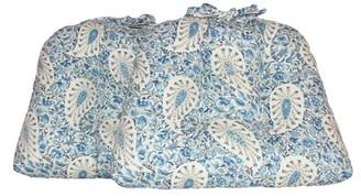 Alcott Hill Paisley Verveine Dining Chair Cushion Alcott Hill Fabric: BlueJay