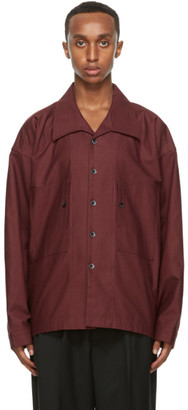 Nicholas Daley Red Cotton Oversized Shirt