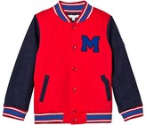Little Marc Jacobs Red and Blue Branded Bomber Jacket