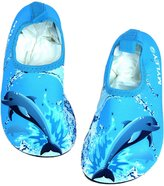 Femizee Boys Girls Lightweight Water Shoes Non Slip Pool Beach Aqua Socks for Swimming Walking Jogging(Toddler/Little Kid)