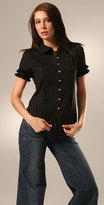 Pin Tucked Button Blouse