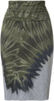 Raquel Allegra tie-dye detail skirt - women - Cotton/Polyester - 0