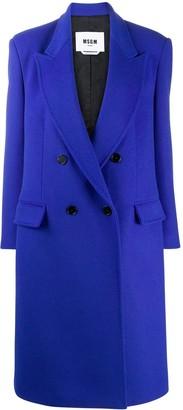 MSGM Peak-Lapel Double-Breasted Coat