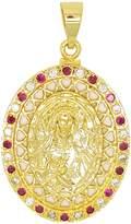 Mia 14kt GP Virgin Mary With CZ Pendant - Dije Virgen Maria Con CZ