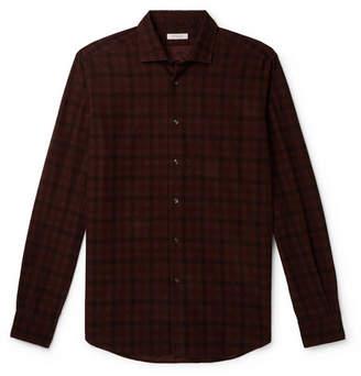 Boglioli Slim-Fit Checked Cotton-Corduroy Shirt