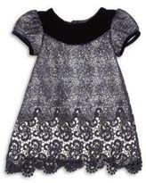 Isabel Garreton Baby's Velvet Trim Lace Dress