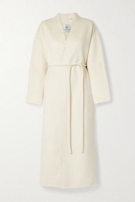 Anine Bing - Hunter Belted Wool And Cashmere-blend Coat - Cream