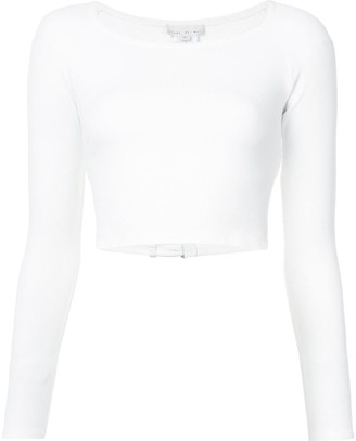 Fleur Du Mal Cropped Fitted Sweater