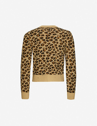 Gucci Leopard-print wool jumper