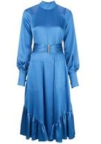 Alexis Calypsa blouson-sleeved satin dress