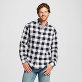 Merona Men's Double Weave Button Down Shirt Navy