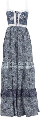 Evi Grintela Jemma Floral-print Cotton Maxi Dress - Blue Print