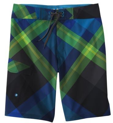 Mossimo Men's Board Shorts - Durango Blue Plaid
