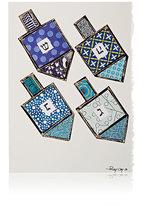 Constance Kay Dreidel Holiday Card-BLUE
