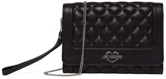 Love Moschino Quilted PU Chain Strap Crossbody Bag