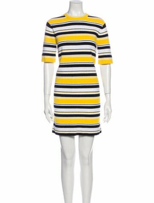 Marc Jacobs Striped Mini Dress Yellow