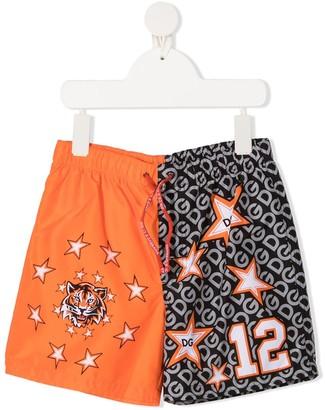 Dolce & Gabbana Kids Jungle Sport swim shorts