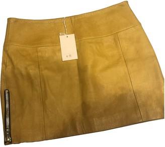 Heimstone Yellow Leather Skirts