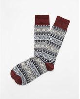 Express diamond print boot socks