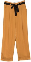 Frnch Contrast Tie Belted Wide Leg Pants