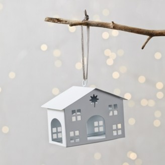 The White Company Little White Barn Christmas Decoration, White, One Size
