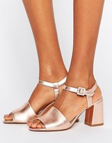 MANGO Flared Heel Sandal