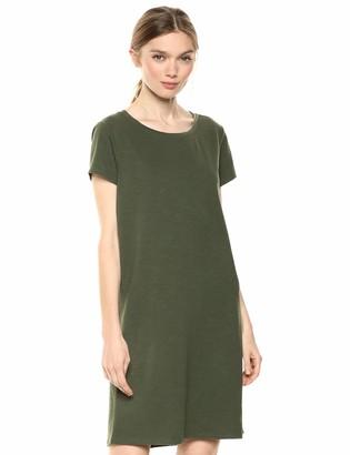Daily Ritual Amazon Brand Women's Lived-in Cotton Crewneck T-Shirt Dress