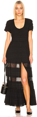 Jonathan Simkhai Lace Front Slit Maxi Dress in Black | FWRD