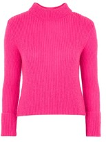 Topshop Lofty Turnback Cuff Knitted Jumper