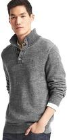 Gap Heathered mockneck sweater
