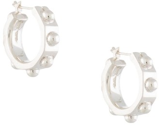 E.m. Sterling Silver Hoops