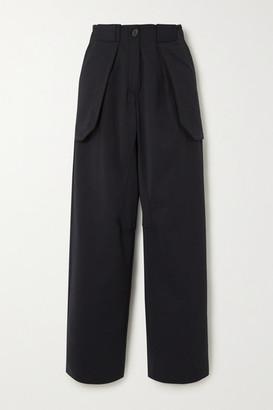 Wales Bonner Jose Layered Cotton-blend Wide-leg Pants - Black